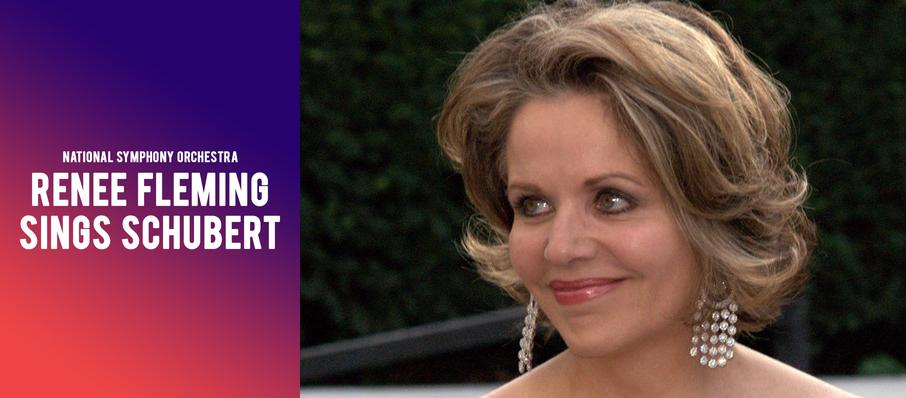 National Symphony Orchestra - Renee Fleming sings Schubert at Kennedy Center Concert Hall