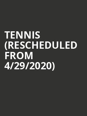 Tennis (Rescheduled from 4/29/2020) at 9:30 Club
