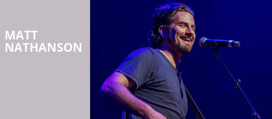 Matt Nathanson, Birchmere Music Hall, Washington