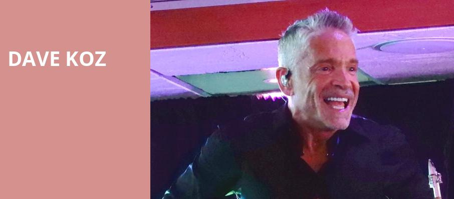Dave Koz, The Theater at MGM National Harbor, Washington