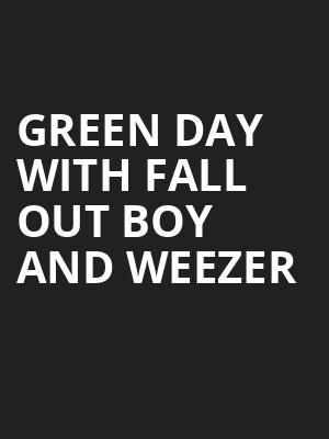 Green Day with Fall Out Boy and Weezer, Nationals Park, Washington